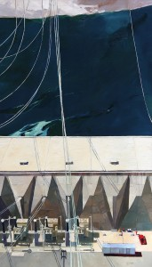 Powerhouse, Grand Coulee Dam 68 x 68 inches, oil on linen