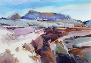 American Outback 29x41 inches, watercolor on paper