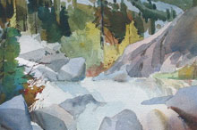 Granite Dome, Emigrant Wilderness, Watercolor on paper 29x41